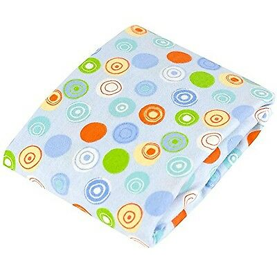 Kushies Baby Change Pad Fitted Sheet with Slit for Safety Straps Crazy C.... New