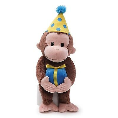 Gund Curious George Dressed for a Birthday 14-Inch Plush New