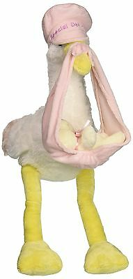 "Pink Special Delivery Stork 11"" Baby Stuffed Animal New"