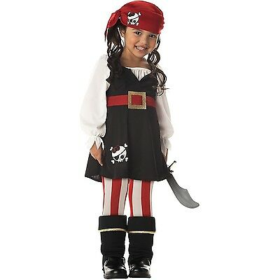 Precious Lil' Pirate Toddler Costume Size 4-6 Large(4-6) New