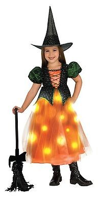 Rubies Costume Child's Twinkle Witch Costume with Fiber Optic Twinkle Ski... New
