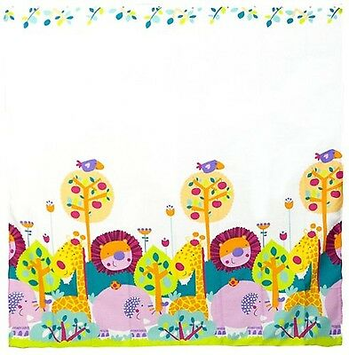 Kushies Baby Jungle Themed Shower Curtain 4-Piece New
