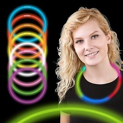 """22"""" Premium Glow Stick Necklaces (assorted tube of 50) New"""