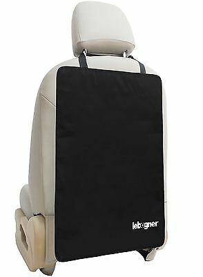Luxury Car Seat Back Kick Mat Protectors By Lebogner - 2 Pack Large Auto ... New