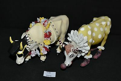 ThriftCHI ~ Cast Resin Cowparade Figurine - Clown Cow & Elvis Cow