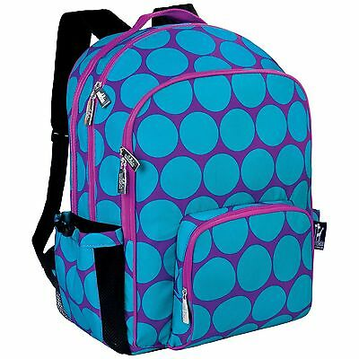 Wildkin Big Dots Macropack Backpack Aqua Wildkin Big Dots Aqua New