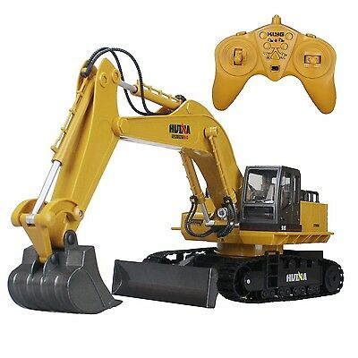 Hugine Alloy 11 Channel RC Excavator and Bulldozer 2in1 2.4G Crawler Full... New