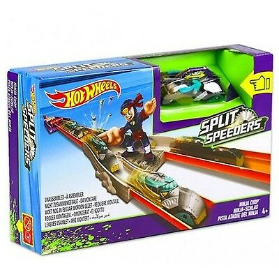 Mattel Hot Wheels Split Speeders Ninja Chop Action Track Set New