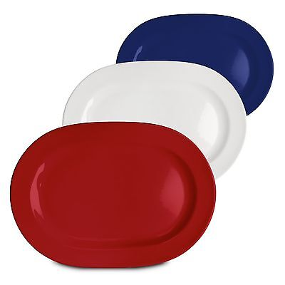 Waechtersbach Fun Factory Oval Platters Red White and Blue Set of 3 New