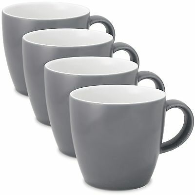 FORLIFE Uni Tea/Coffee Cup with Handle (Set of 4) 11-Ounce Gray New