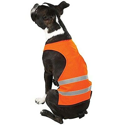 Guardian Gear Polyester/Nylon Safety Dog Vest Small 12-Inch Orange New