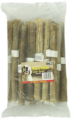 Dogit Rawhide Pressed Chew Sticks 20mm x 25cm 0.8-Inch x 10-Inch 20-Pack New