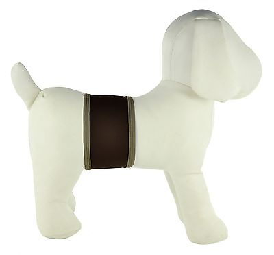 PlayaPup Dog Belly Bands for Incontinence/Training Dark Brown Large New