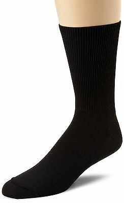 Wigwam Men's Diabetic Walker Crew Length Sock Black Medium New
