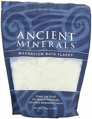 Ancient 750g Minerals Magnesium Bath Flakes New