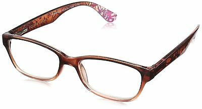 Foster Grant Women's Carlee PolarizedRoundReaders  Brown 1.75 New