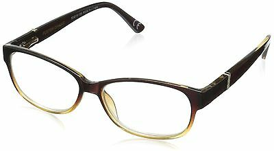 Foster Grant Women's Betsy PolarizedRoundReaders  Brown 2.75 New