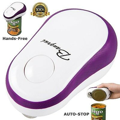 BangRui Smooth Edge Electric Can Opener--One Button Start & Auto-Stop(Pur... New