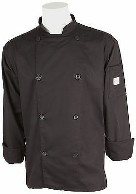 Mercer Culinary M61010BKM Genesis Unisex Chef Jacket with Traditional But... New