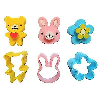 YIJIA 3CPS Cute Mini Sandwich Cutters Shapes Set for Kids Plastic Bento S... New