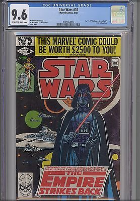 Star Wars #39  CGC 9.6 oww 1980  Marvel  ESB Movie Based Comic: NEW CGC Frame