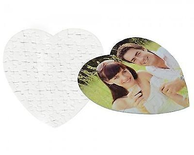 2 Pack Sublimation Blank Heart Shaped Hardboard Puzzle