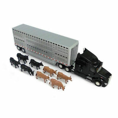 Tomy ERTL 59cm 1:32 Peterbilt Model 579 Truck Semi Livestock Trailer/Toy/Kids
