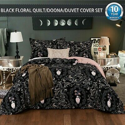 Floral Doona/Duvet/Quilt Cover Set Double/Queen/King Size Bedding Pillowcase New