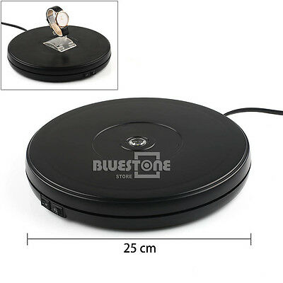 Black 25cm 10KG 3D Heavy Duty Rotary Rotating Display Stand Turntable 110V