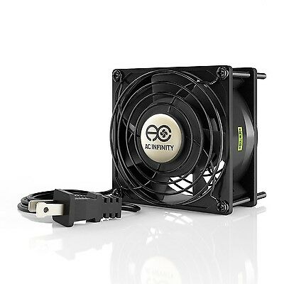 AC Infinity Axial Cooling Fan 115V AC 92mm by 92mm by 38mm High Speed New
