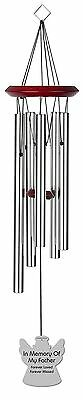 Chimesofyourlife fa-angel-19-silver Father Angel Memorial Wind Chime 19-I... New