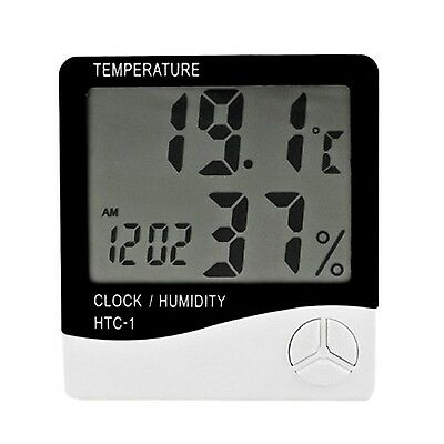 Creative Indoor Household Electronic Thermometer Hygrometer White White 2# New