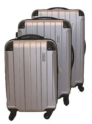 ICE CANADA 3-Piece Luggage Set made from ABS - Large Medium and Carry On ... New