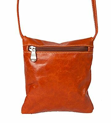 David King & Co. Florentine Top Zip Mini Bag 3507 Red Honey One Size New