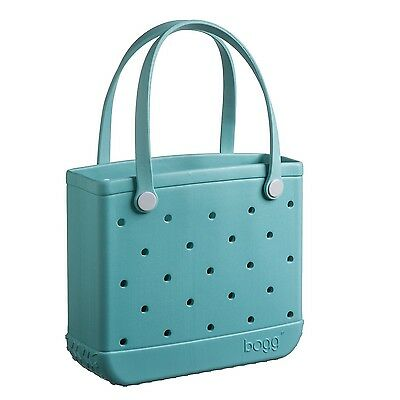 Bogg Bag Baby-Small Beach Pool and School Tote 15x13x5.25 Turquoise and C... New