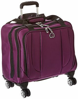 Delsey Luggage Helium Cruise Spinner Trolley Tote Purple One Size New