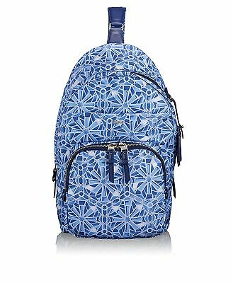 Tumi Voyageur Brive Sling Backpack Moroccan Blue Tile Print One Size New