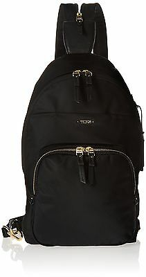 TUMI Voyageur Nadia Convertible Multipurpose Backpack Black One Size New