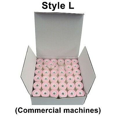 SuperB Style L (Small) White Polyester Pre-Wound Bobbins thread Box of 144 New