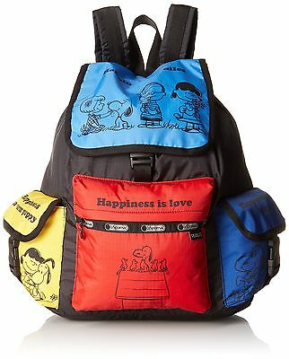 LeSportsac X Peanuts Voyager Backpack Snoopy Friends New