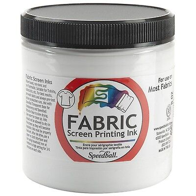 Speedball Art Products Fabric Screen Printing Ink 8-Ounce White 8 oz Jar New