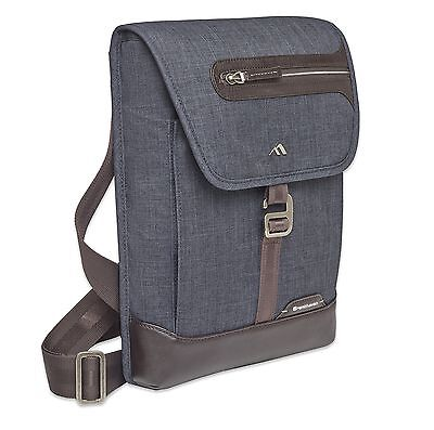 Collins Vertical Messenger Bag - Indigo Chambray New