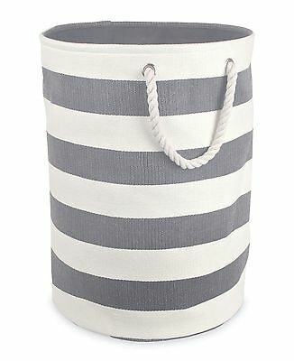 DII Woven Paper Textured Laundry Hamper or Basket Collapsible & Convenien... New