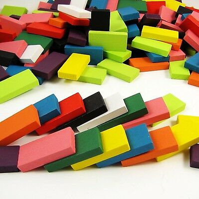 240pcs Authentic Basswood Standard Wooden Kids Domino Racing Toy Game New
