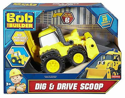 Fisher-Price DRC49 Bob The Builder Dig and Drive Scoop New
