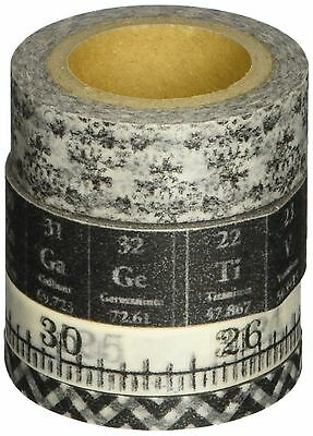 Tim Holtz Idea-ology Tissue Tape Laboratories Adhesive Backed 4-Roll 10-Y... New