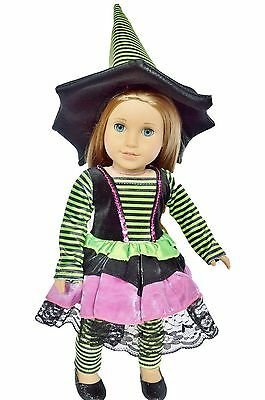 WITCH COSTUME FOR AMERICAN GIRL DOLLS AND MAPLELEA New