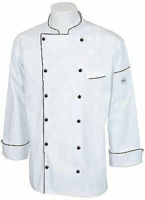 Mercer Culinary M62090WB4X Renaissance Men's Traditional Neck Chef Jacket... New