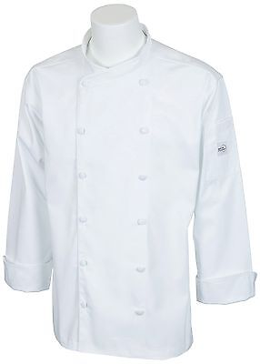 Mercer Culinary M62010WHXS Renaissance Men's Scoop Neck Jacket X-Small Wh... New