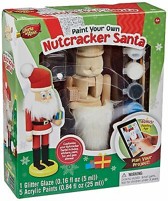 Masterpieces Works of Ahhh Nutcracker Santa Large Wood Paint Kit New